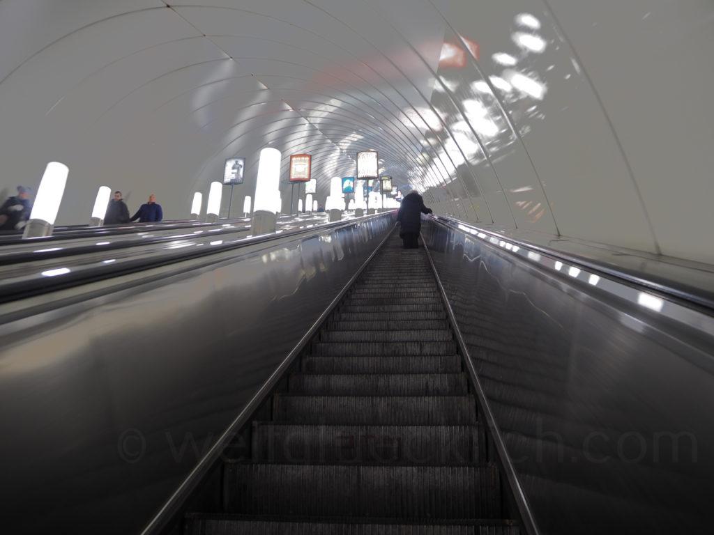 St Petersburg Metro U Bahn Rolltreppe