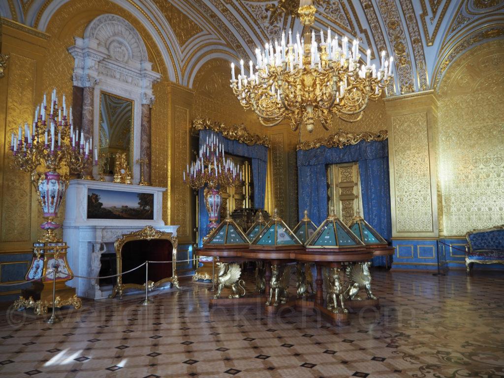 Eremitage Winterpalast goldener Salon St Petersburg