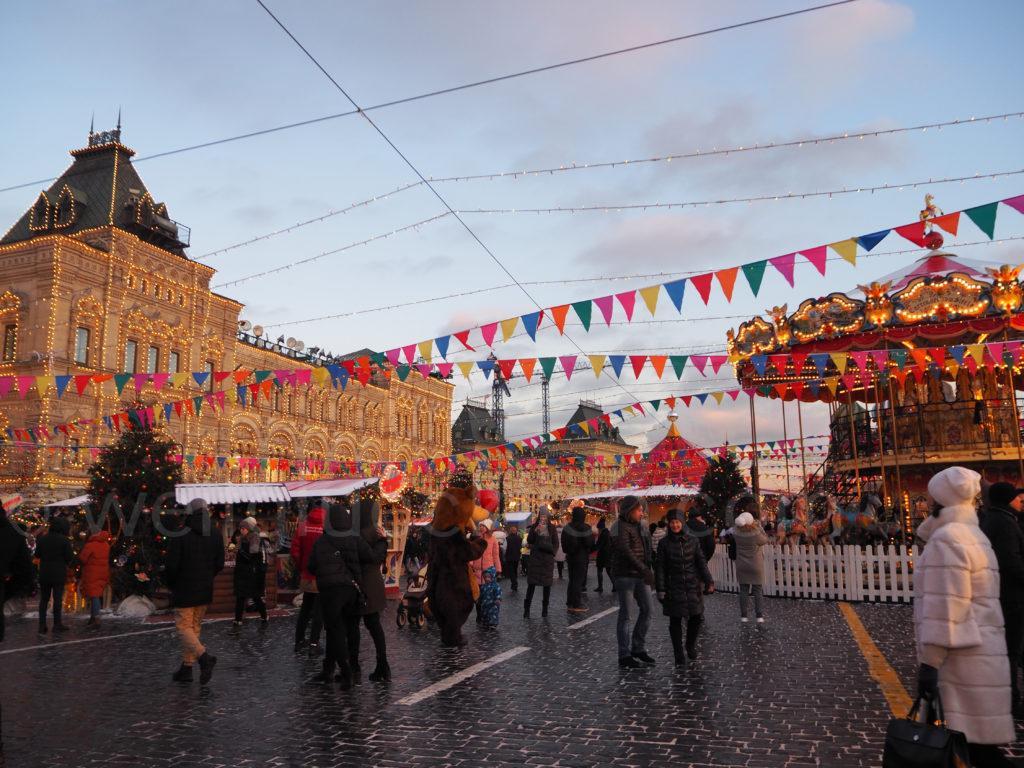 Wintermarkt GUM Roter Platz Moskau