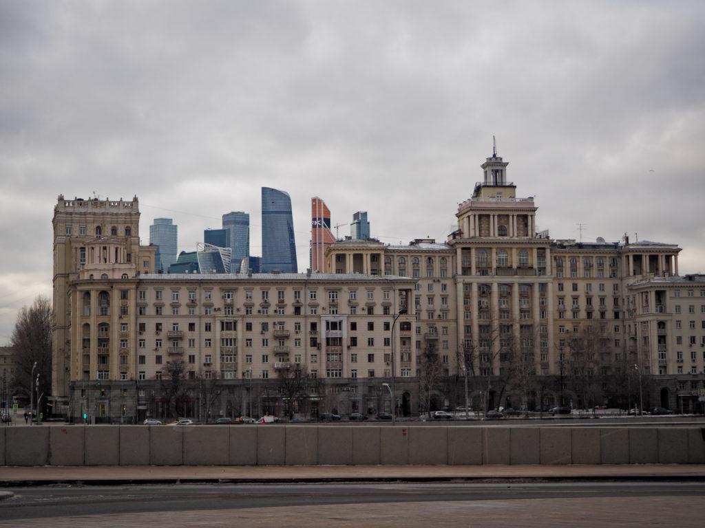 Skyline Moskau-City Moskwa Ufer