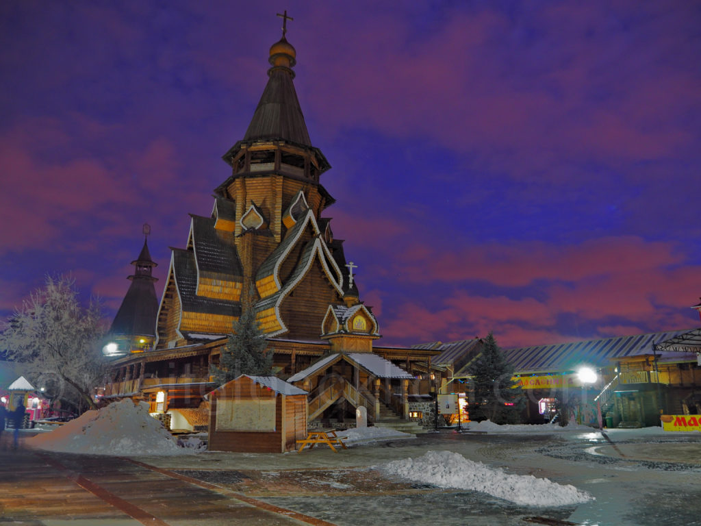 Ismailowo Kreml Marktplatz Sonnenuntergang Moskau