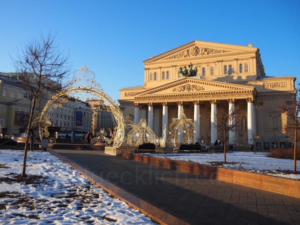 Moskau Bolschoi Theater Winter