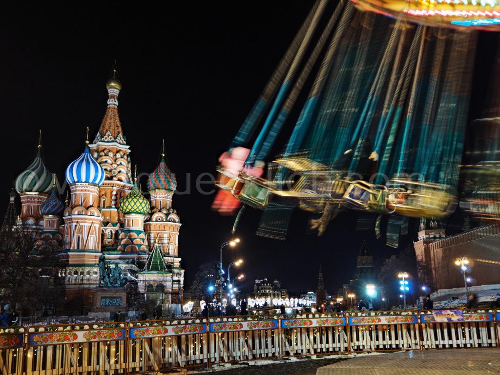 Basilius Kathedrale Roter Platz Kirmes Moskau