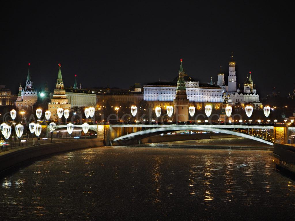 Blick Moskwa Kreml Moskau Christ Erloeser Kirche