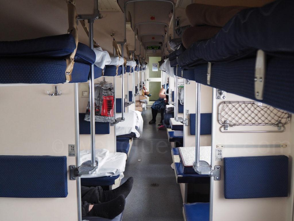Transsibirische Eisenbahn Transsib Großraumliegewagen Russland Plackartnyj