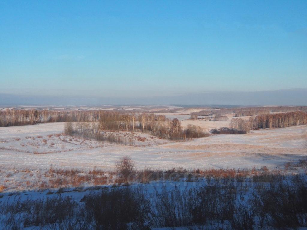 Transsibirische Eisenbahn Transsib  Weite Krasnojarsk Russland