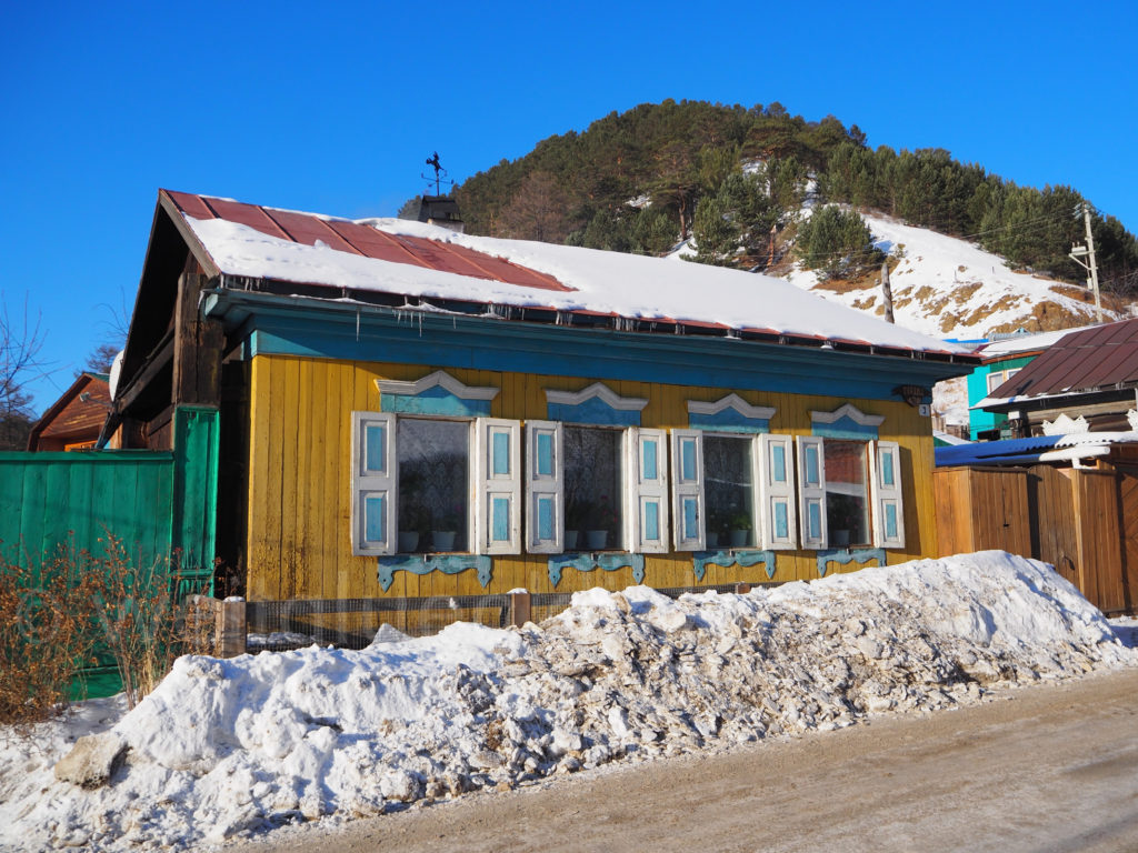 Listwjanka Holzhaus Winter Baikalsee