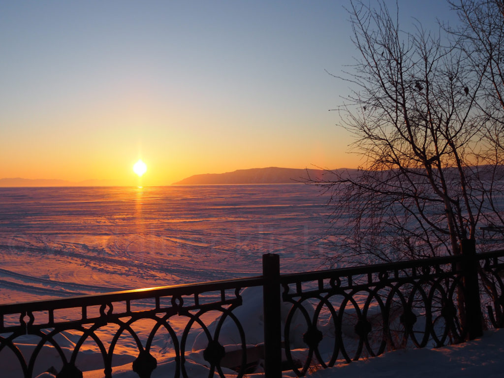 Listwjanka Baikalsee Sonnenuntergang Winter