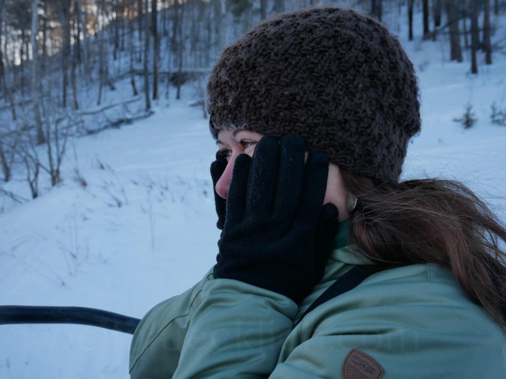 Listwjanka Baikalsee Sessellift Winter kalt