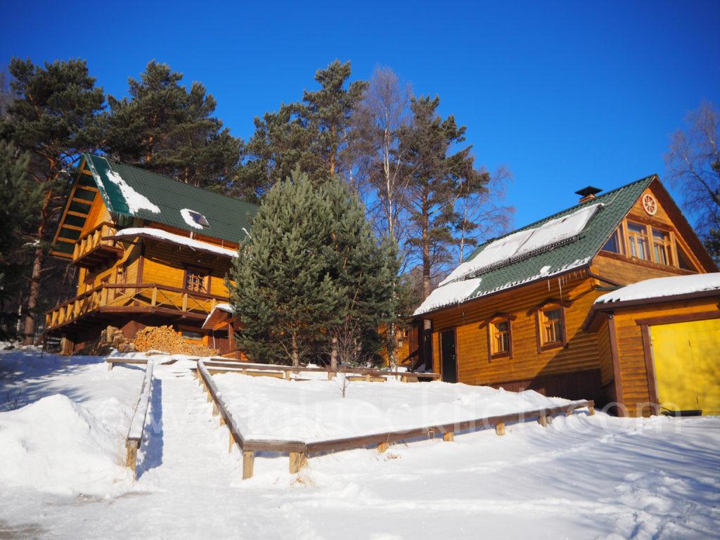 Listwjanka Baikalsee Hostel Winter Schnee