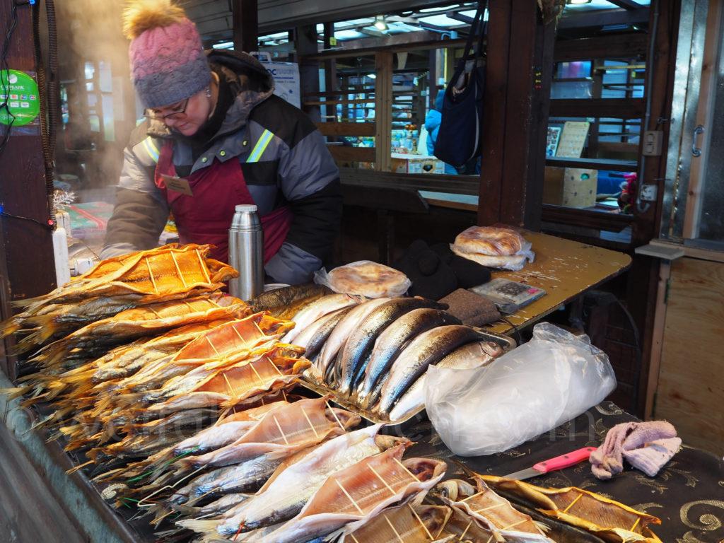 Listwjanka Baikalsee Fischmarkt Omul