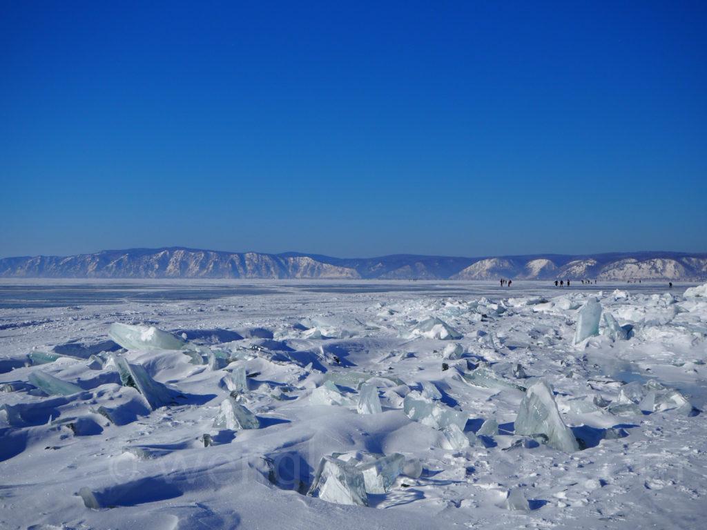 Listwjanka Baikalsee Eisformationen Winter Eis