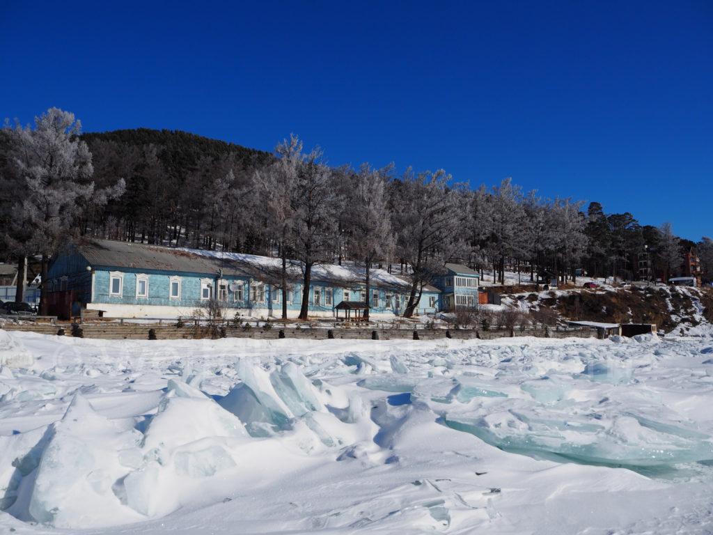 Listwjanka Baikalsee Ufer Eisformation Winter