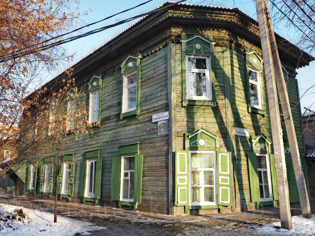 Irkutsk Sibirien Holzhaus Pionerskiy