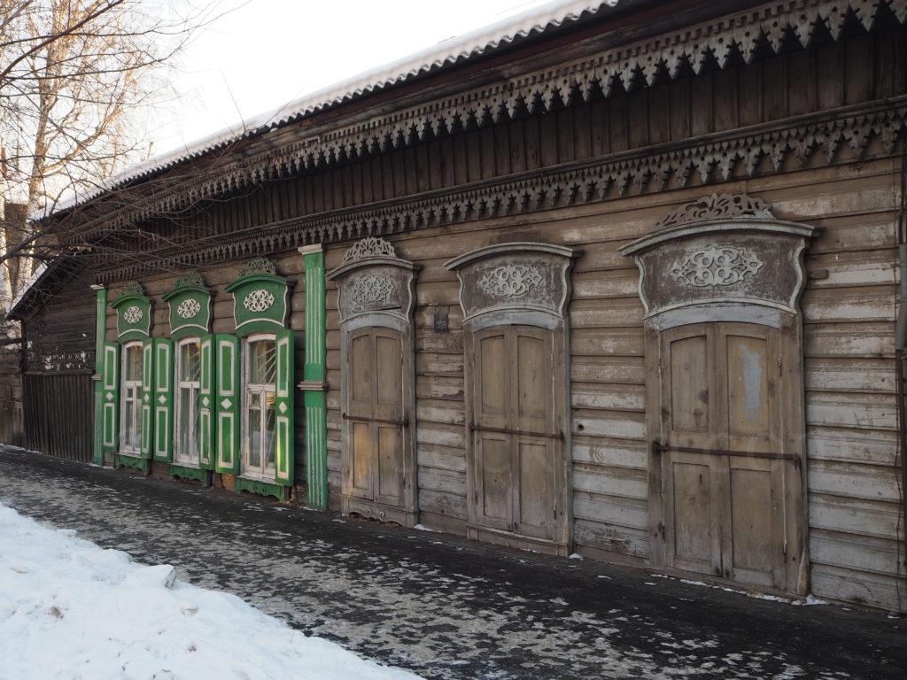 Irkutsk Sibirien Holzhaus restauriert bewohnt