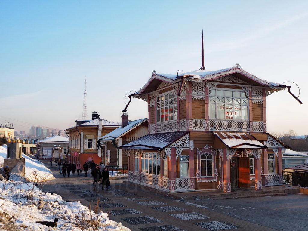 Irkutsk Sibirien Holzhaus neu Quartier 130