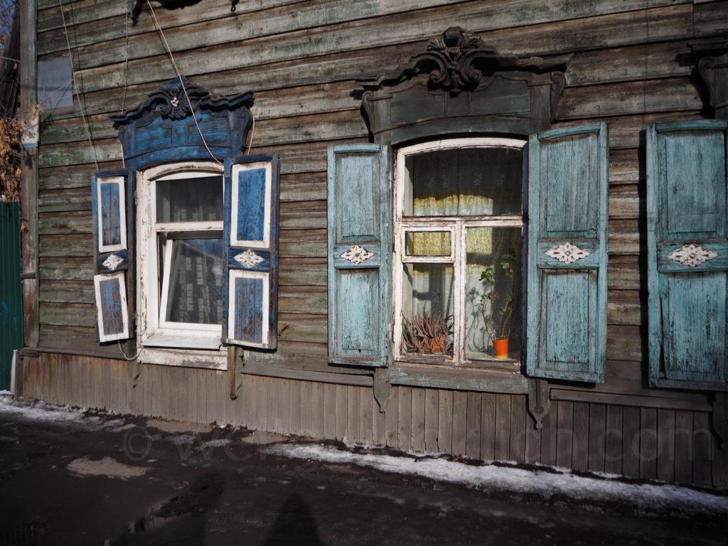 Irkutsk Sibirien Holzhaus alt
