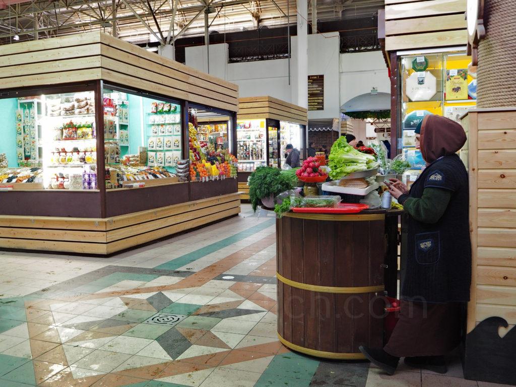 Irkutsk Sibirien Markt Halle