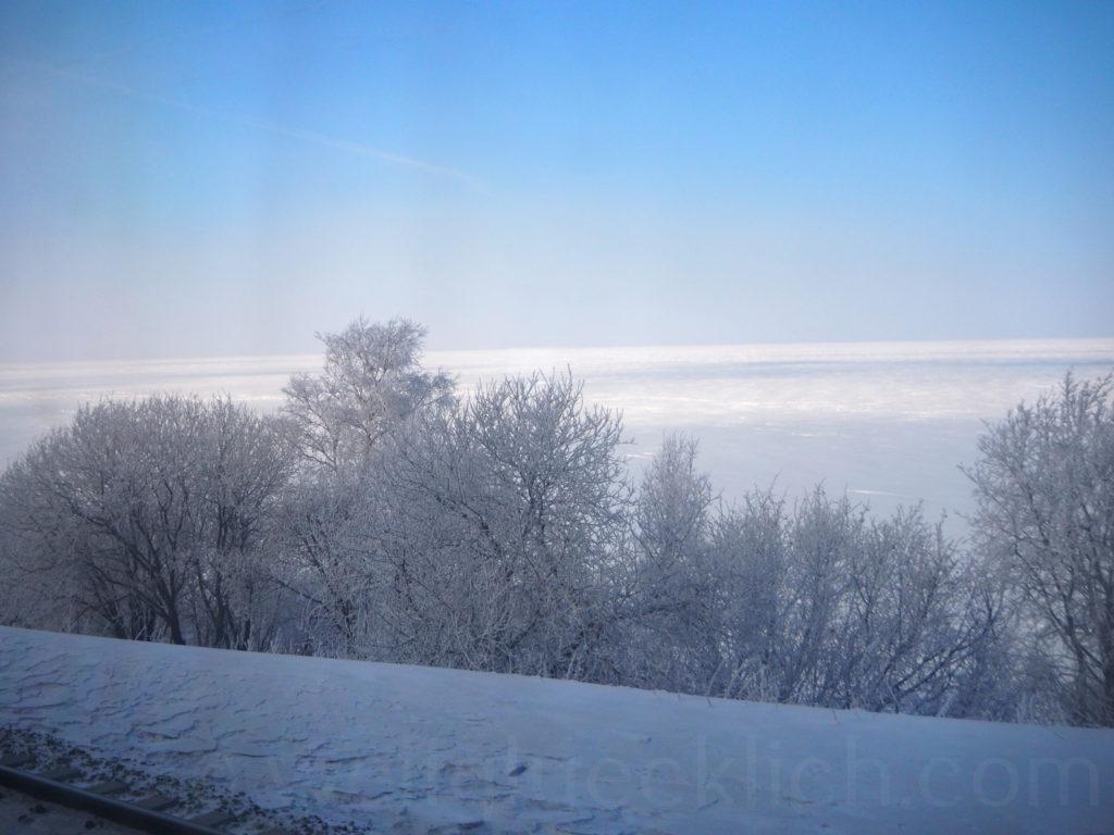 Transsib Transsibirische Eisenbahn Winter Baikalsee Eis