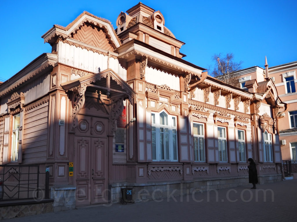 Tschita Transbaikalien Leninstrasse Holzhaus