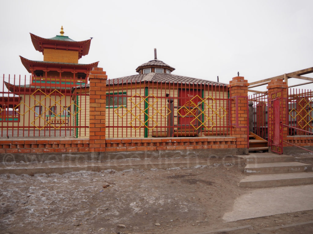 Bagdarin Sibirien Cafe Yurta Burjatien Tempel
