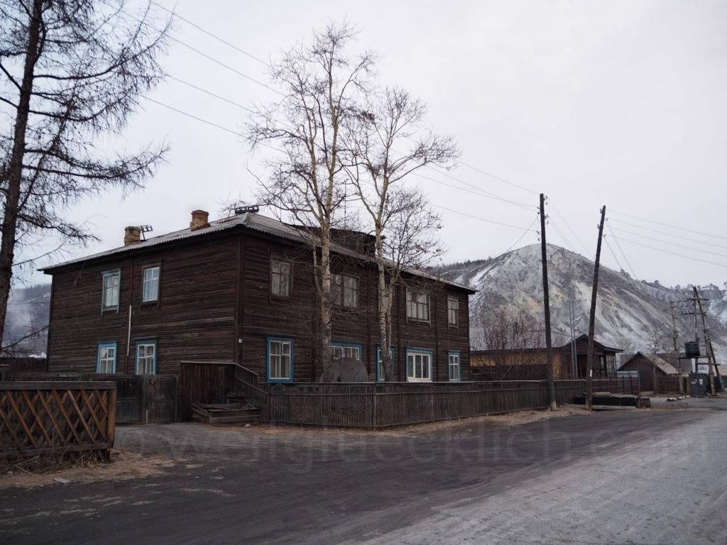 Bagdarin Sibirien Burjatien weisser Berg