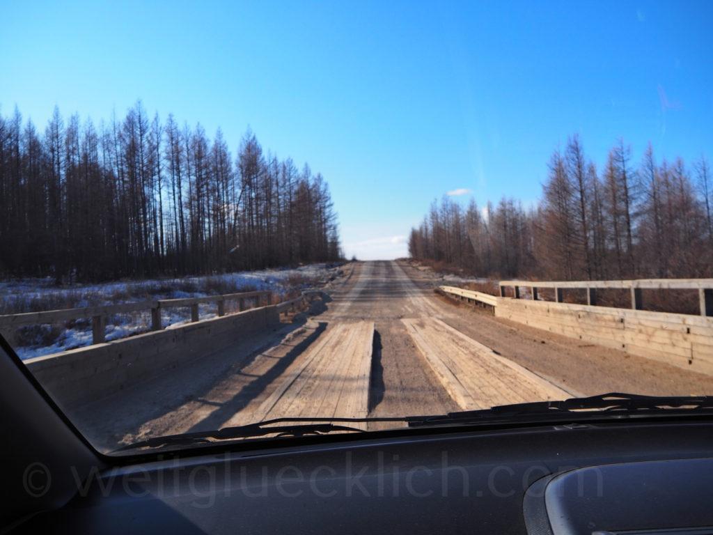 Holzbruecke Burjatien Sibirien