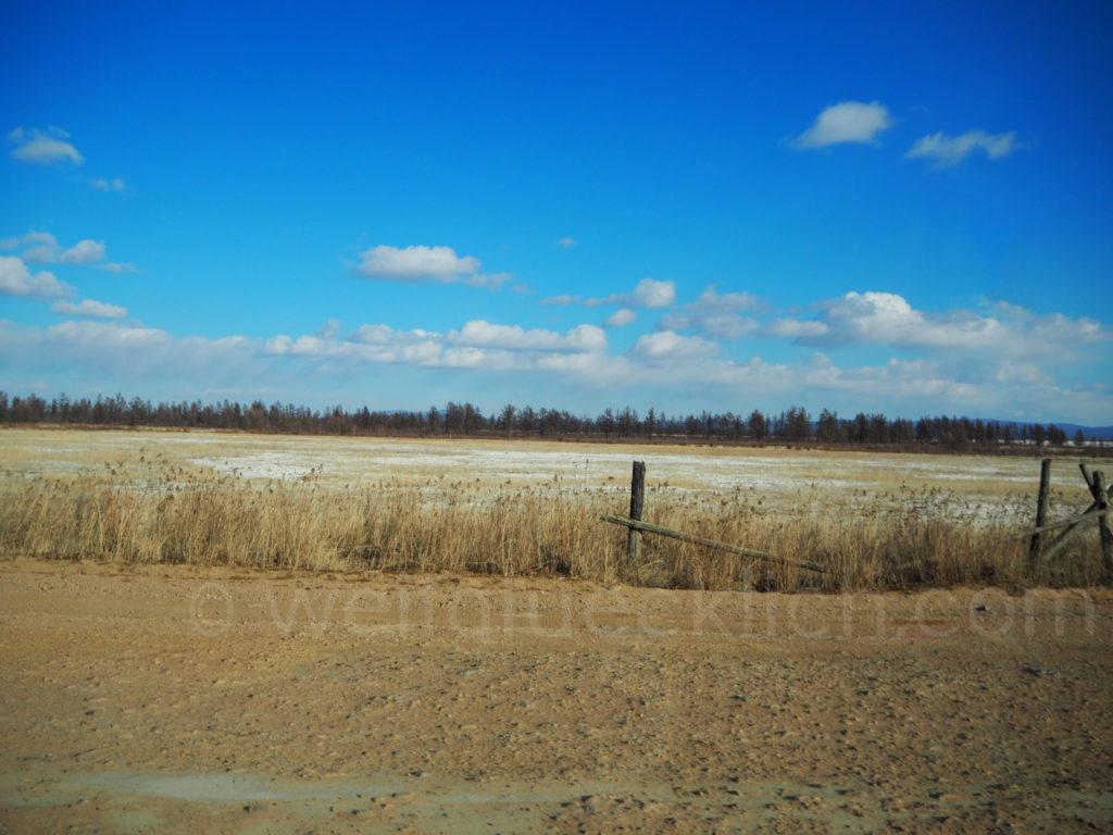 Landschaft Burjatien Sibirien Feld