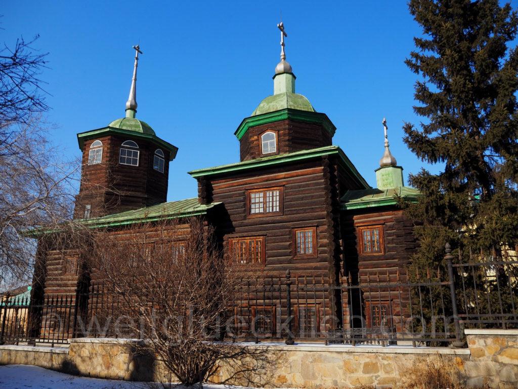 Tschita Transbaikalien Dekabristenmuseum Erzengel Michael Holz Kirche