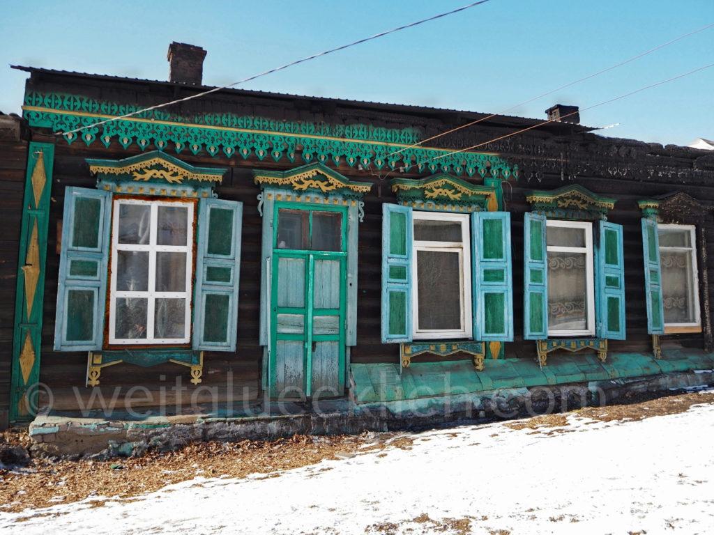 Tschita Transbaikalien Holzhaus Architektur