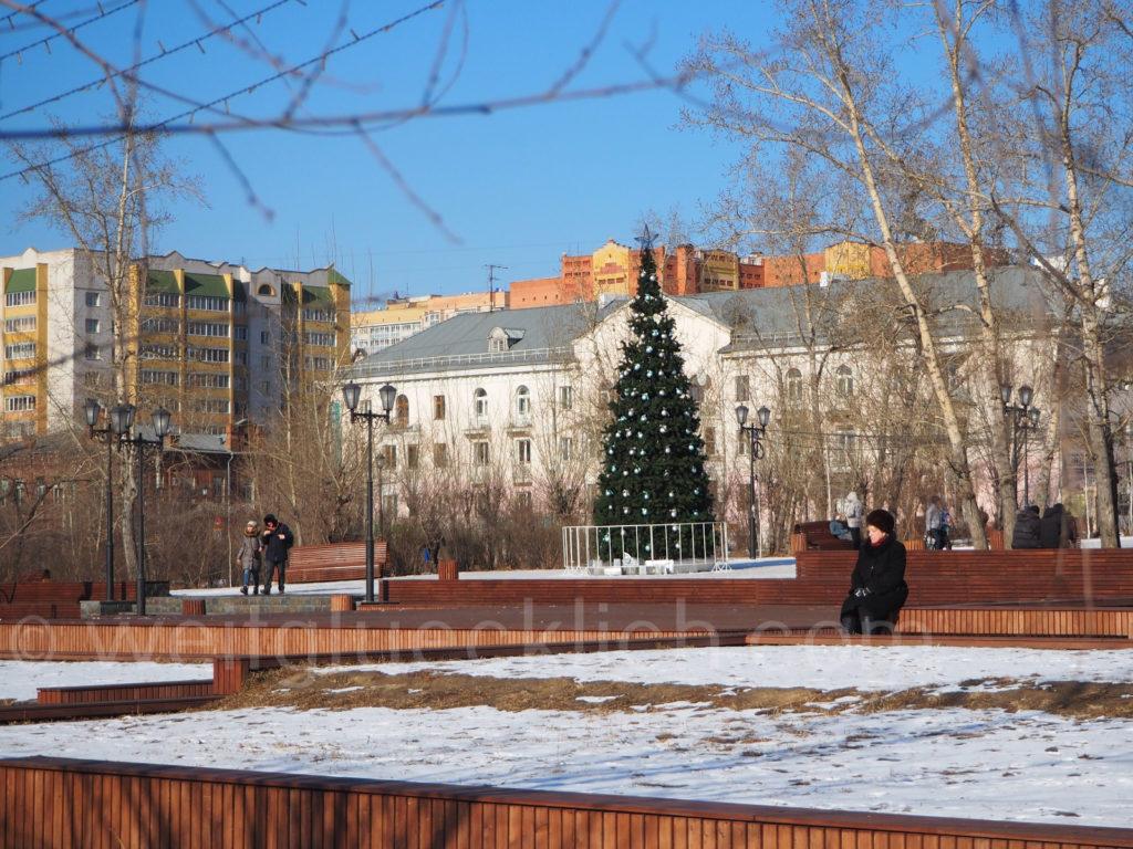 Tschita Transbaikalien Dekabristenplatz Winter