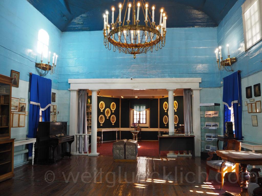 Tschita Transbaikalien Dekabristenmuseum innen Holzkirche