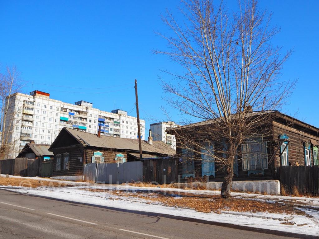 Tschita Transbaikalien Holzhaus
