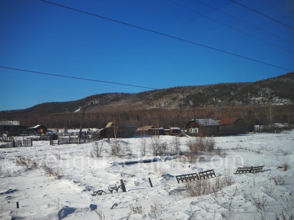 Weltreise 2020 Transsib Transsibirische Eisenbahn Sibirien Winter Mogotscha