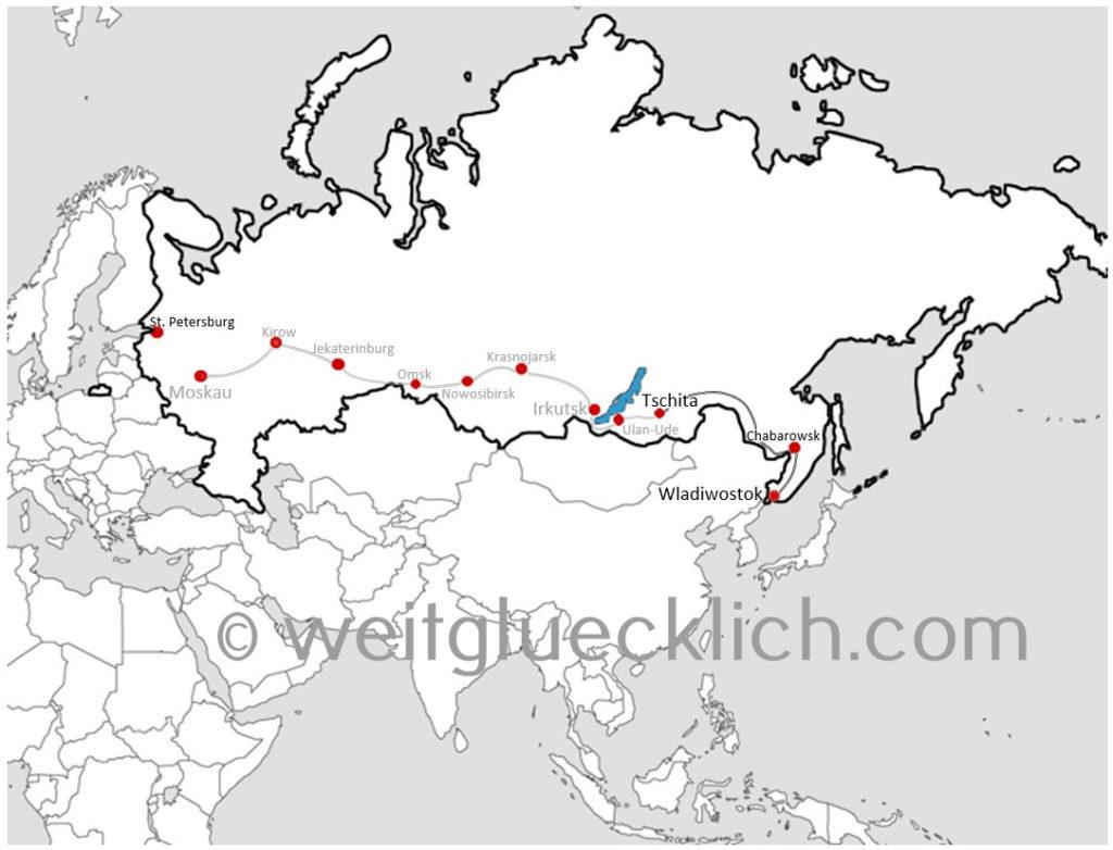 Transsib Transsibirische Eisenbahn Russland Route Tschita Wladiwostok