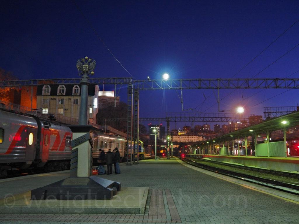 Weltreise 2020 Transsib Transsibirische Eisenbahn Sibirien Bahnhof Wladiwostok