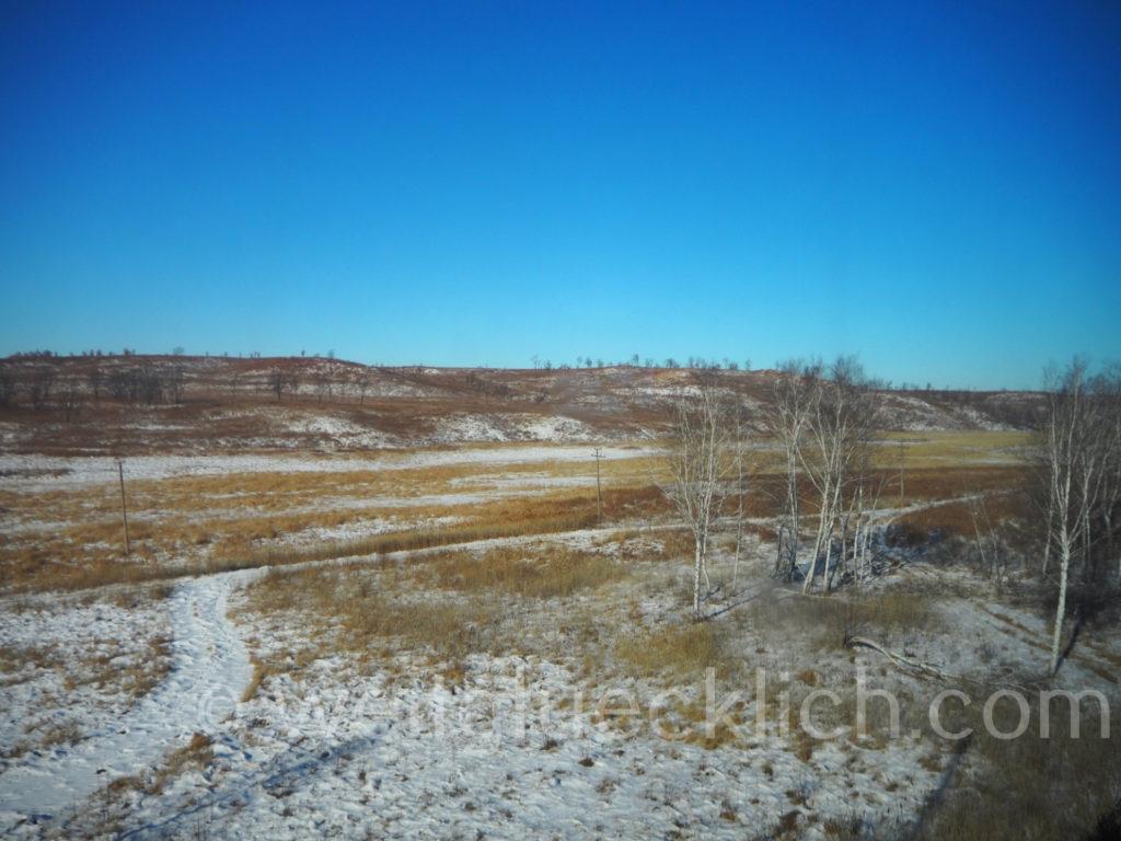 Transsib Transsibirische Eisenbahn Sibirien Winter Landschaft Amur Fernost