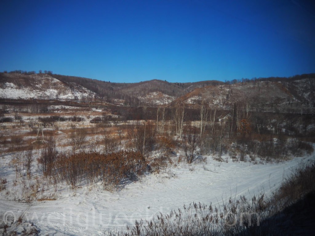 Weltreise 2020 Transsib Transsibirische Eisenbahn Sibirien Winter Landschaft Amur Fernost