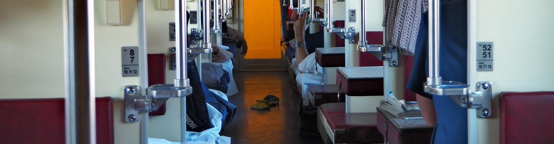 Transsibirische Eisenbahn Grossraumliegewagen innen