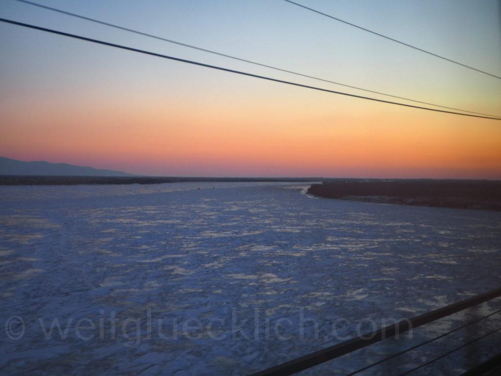 Weltreise 2020 Transsib Transsibirische Eisenbahn Sibirien Winter Amur Chabarowsk