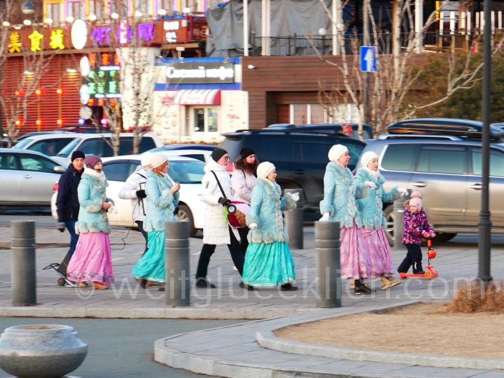 Russland Wladiwostok Sing- und Tanz-Gruppe Hare Krishna