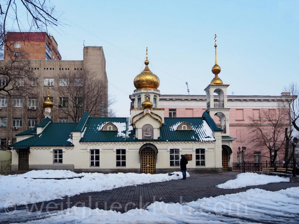 Russland Wladiwostok Winter Kirche Maria Himmelfahrt der Mutter Gottes