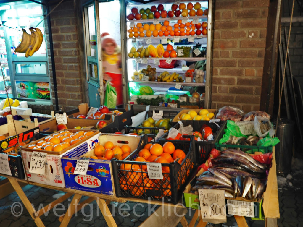 Russland Wladiwostok Markt Fische und Obst