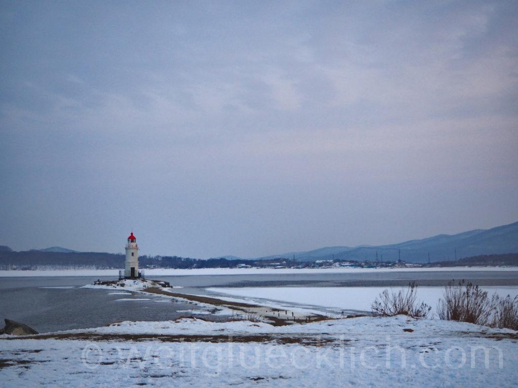 Russland Wladiwostok Tokarevskaya Leuchtturm Winter