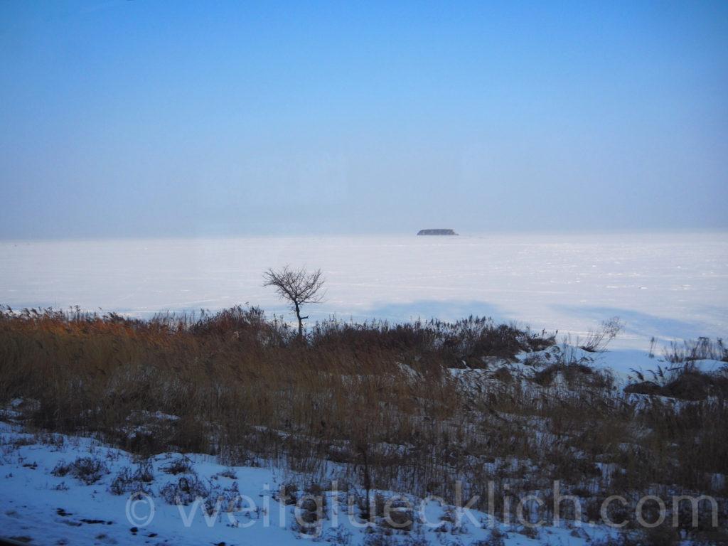 Russland Wladiwostok Amurbucht Pazifik gefroren
