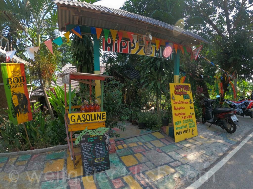 Thailand Koh Chang Bang Bao Bucht bay view point Hippy Hut