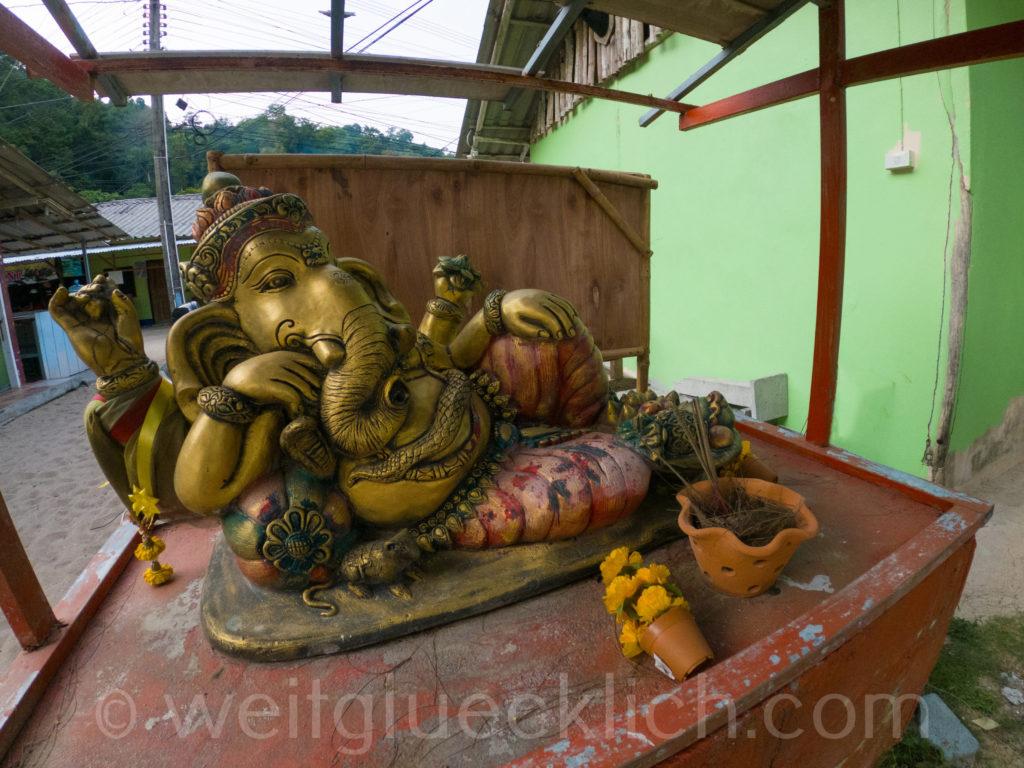 Thailand Koh Chang Bang Bao Beach Ganesha Hindu Buddhismus