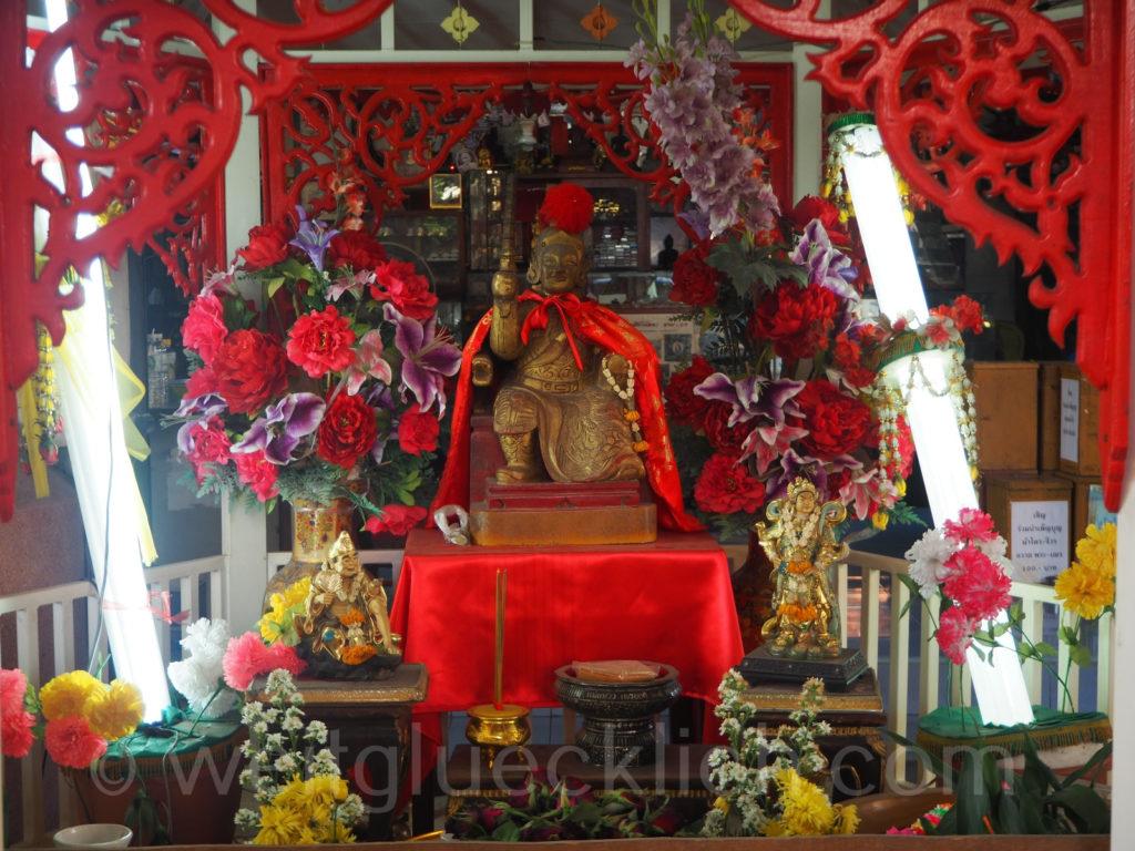 Thailand Bangkok Bang Kapi Wat Phrakraisi Eingang entrance