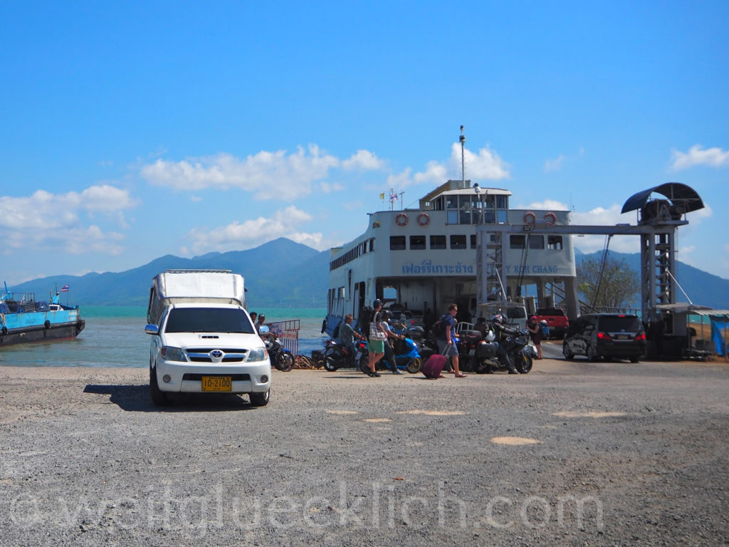 Thailand Trat Ao Thammachat Pier Faehre ferry Koh Chang