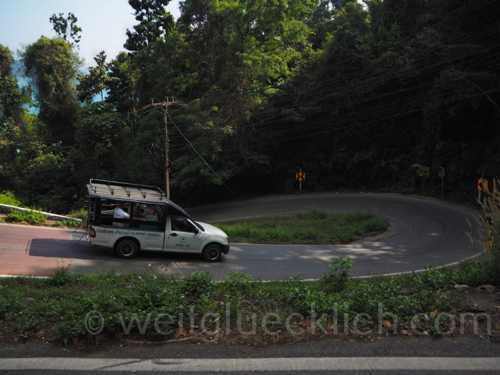 Thailand Koh Chang roads Kurven Gefaelle